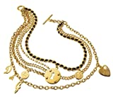 Dolce & Gabbana JEWELS D&G MULTIPLE NECKLACE IPG - 5 CHAINS 3 COINS 1 HEART DJ0507 female