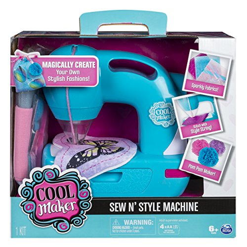 Sew Cool Sewing Machine with Pom-Pom Maker Attachment (Multicolour)