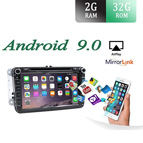 Android 9.0 Autoradio 2 Din Car Stereo Compatible para Volkswagen VW SEAT...