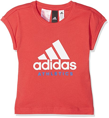 adidas Mädchen Sport ID T-Shirt, Real Coral/White, Size 14-15Y