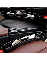 PRO365® 2 Pack Rich Leatherette Car Front Seat Storage Mobile/Parking Tickets/Gums/Wallet/Keys Organizer(2 Pieces)