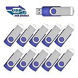 USB 2.0 Sticks DataTraveler 2GB Speicherstick, 10 stück Blau