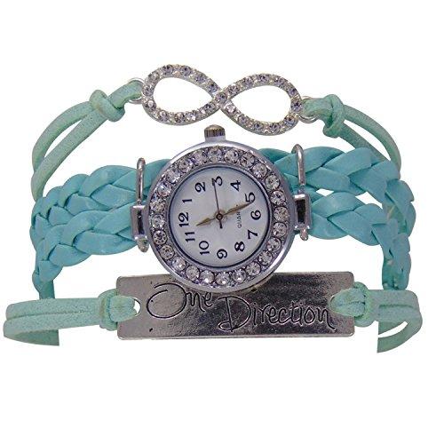 Habors Green leather Multi-Strand watch bracelet for Women/girls
