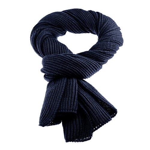 Unisex Strickschal Lang Grobstrick Schal Warm Winterschal einfarbiges Halstuch Oversized Schlauchschal für Herbst und Winter