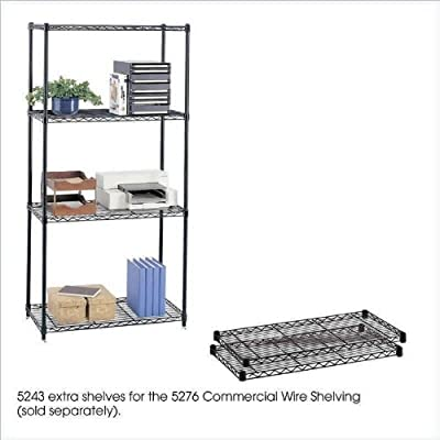 Safco W 914 X D 457 Wire Coerical Shelves, 2 Pack, Black (Bl) 5243Bl Steel