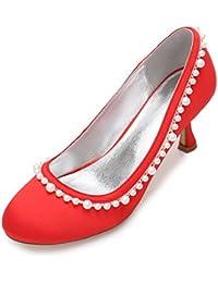 Elegant high shoes Mujeres Boda Rhinestone T-17061-35 Marfil Satén Nupcial Novia Damas Corte de Dama de Honor...