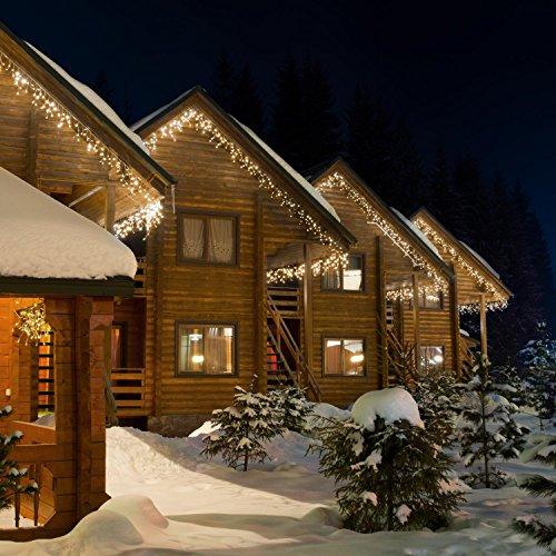 Blumfeldt dream house classic • stringa led luci • illuminazione natalizia • illuminazione ambienti esterni e interni • ghiaccioli led • 24 m • 480 led • bianco caldo • bassa generazione di calore • 90% di risparmio energia • antischizzi • bianco