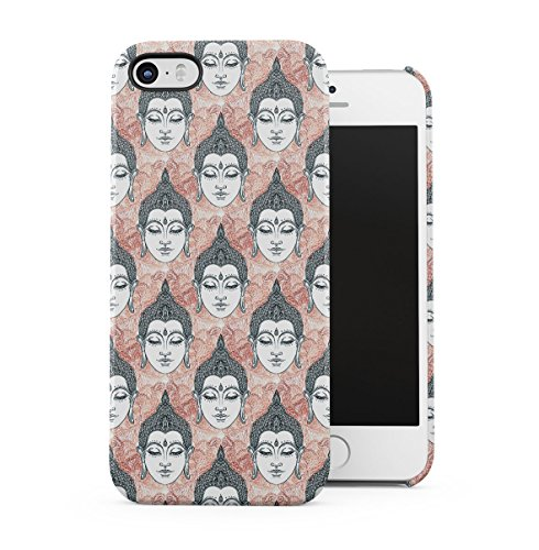 Buddha, Hamsa, Ganesh, Mandala Hindu Pattern Apple iPhone 5 , iPhone 5S , iPhone SE Snap-On Hard Plastic Protective Shell Case Cover Custodia Buddha Head