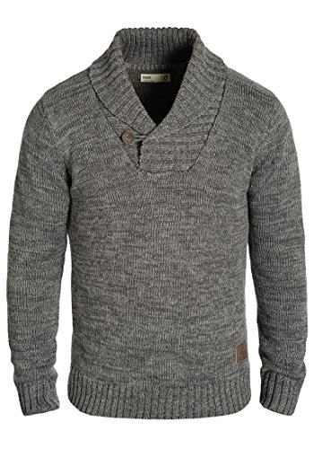 SOLID Phil Men's Knitted Pullover, size:M;colour:Dark Grey (2890)