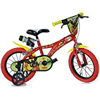 """Dino Bikes - Bicicletta per Bambino 14"""" Bing Rossa 2 Freni"""