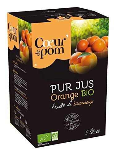 Cœur de Pom Pur Jus d'Orange Bio 5 L