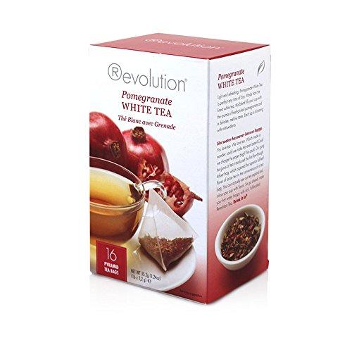 Revolution Pomegranate Tea - Whole Leaf White Tea - 16 Pyramid Tea Bags