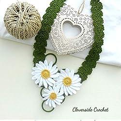 collar floral margaritas en ganchillo