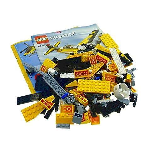 1 x Lego System Modell Set für Creator Model 6745 Propeller Power Propeller Flugzeug gelb (BA ist beschädigt ) unvollständig