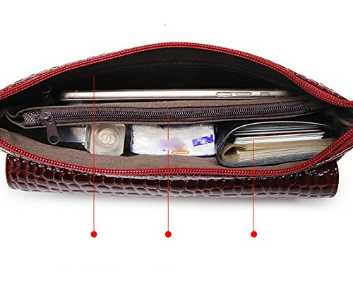 LAIDAYE Handtaschen Damen Handtaschen Abendtasche Schulter Messenger Bag Black