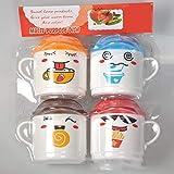 Cartone Animato Tazza da té Compressione Tazzine da caffè tè al Latte con Coperchio per Bambini Ragazzi Regalo di Compleanno per Ragazze - Colore Casuale
