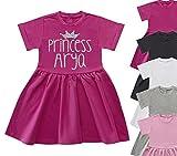 Personalised Princess Name Dress Summer Dress Girls Glitter Tops Heart Fashion Girls Clothing Girls