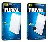 Fluval U2Carbon und Schaumstoff Aquarium Fisch Tank Filter Ersatz Medien Dual Pack Neu