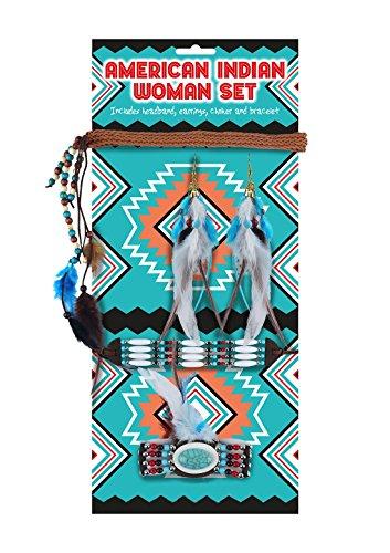 Schmuck Sets Kostüm Indianer - Islander Fashions Damen Indianer Native Schmuck Set 5 St�ck Damen Party Supplies Zubeh�r One Size