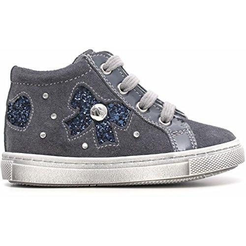 Noir Jardins Junior a521160 F, Chaussures Premiers Pas Fille, Velour Serena
