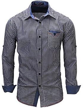 Kuson -  Camicia Casual  - A quadri - Classico  - Maniche lunghe  - Uomo