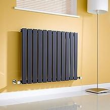 Milano Radiador de Diseño Horizontal - Negro Lúcido- 635mm x 840mm x 46mm - 751