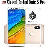 Cedo Xpro Full Coverage 5D Edge To Edge Tempered Glass Screen Protector For Xiaomi Redmi Note 5 Pro (Full Glass White)