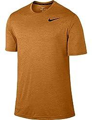 Nike Dri-Fit Training Ss, Camiseta de Manga Sorta Para Hombre, Amarillo (Sunset / Vivid Orange / Black), M