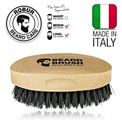 Idea Regalo - Spazzola per barba uomo. 100% naturale. Legno di faggio e pura setola di cinghiale. 100% made in Italy.