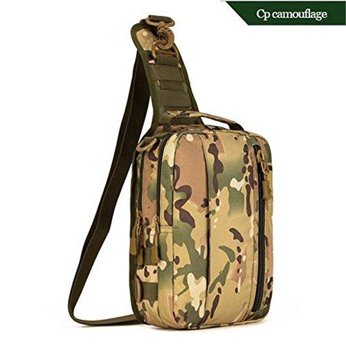 Mefly Mode Männer Taschen Taktiken Wasserdichtes Nylon Tasche Multi-Funktion Single Schulter Brust Tasche Hochwertige Tourismus Rucksäcke CP color
