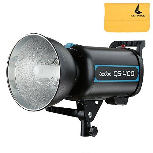 Godox qs-400400W GN65Hohe Geschwindigkeit Studio Strobe Flash leicht Beleuchtung Lampe Head 220V Recycling 0.3-1.2S Zeit + letwing Digital Gift Kit (qs-400) - Flash Strobe Kit
