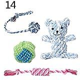 mAjglgE Nodo Corda Tennis Ball Frutti Pet Dog Play Chewing Bite dentizione Giocattoli Set