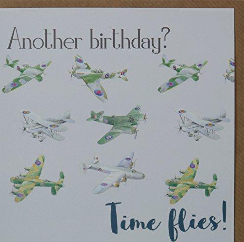 British WW2 Airplanes Birthday Card
