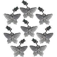 ToCi 8pieza Mantel Pisapapeles de metal, mariposas en plata de brillante