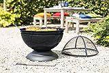 Braciere sferico con griglia, La Hacienda, 58183, nero