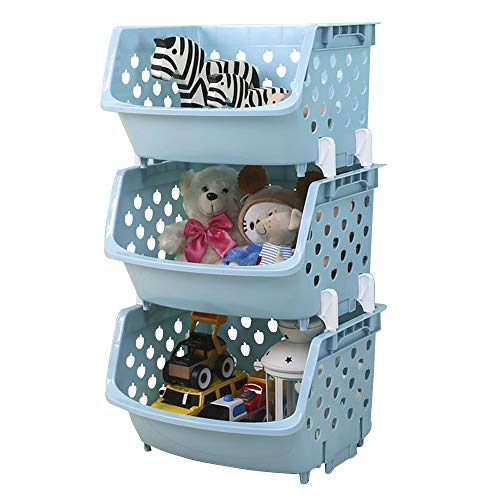TIED RIBBONS Stackable Storage Bins Multipurpose Baskets Rack for Toys Vegetable and Fruit Cosmetic Organizer Toiletry and Skin Care