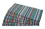 Zollner 5er Set Trockentücher aus Baumwolle, ca. 45x90 cm, bunt Sortiert