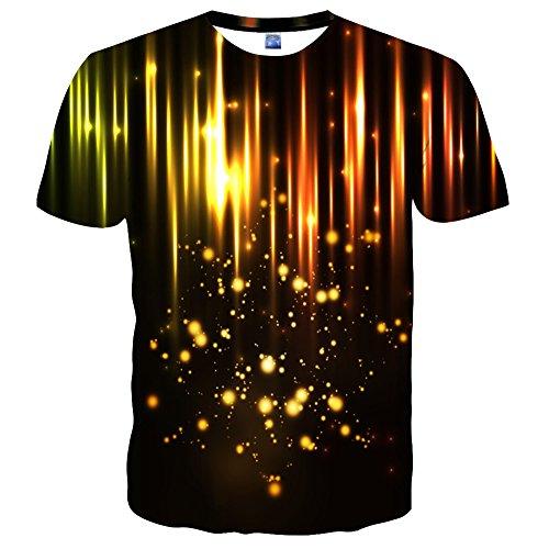 Syaimn Unisex 3D Pattern Print Kurzarm T-Shirts Beiläufige Grafik T-Shirts Multicoloured 42