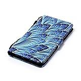 Cas pour Samsung Galaxy S8/Samsung Galaxy S8 plus, Malloom Coquille Gaine Support à poche Flip Housse en PU cuir (S8 Plus, H)