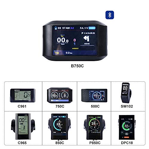 bafang Bike Display elettrico per BBS HMI a motore Centrale Con UART Com. Protocollo 750C 850C B750C C961 C965 C18 500C SW102 Rs 232-lcd-display