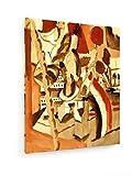 August Macke - Mädchen vor einer Stadt - 60x80 cm - Textil-Leinwandbild auf Keilrahmen - Wand-Bild - Kunst, Gemälde, Foto, Bild auf Leinwand - Alte Meister/Museum