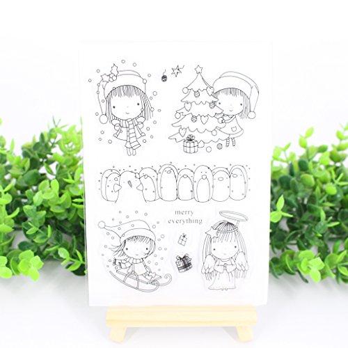 (Ranuw Transparent Stempel (Weihnachtsbaum) DIY Handwerk Silikon Clear Stamps Für Album Foto Sammelalbum Präge Scrapbooking)