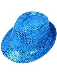 Hosaire 1x Lentejuelas Sombrero de Sol de Mujer Sombrero del Pescador de Playa  Topper Verano para 6404f2ba99a