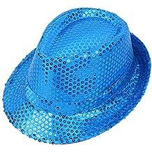f72eb2162bcee Gorra de Disfracez Sombrero de Jazz Lentejuelas Sombrero de Fiesta Baile  Rendimiento Otoño Verano