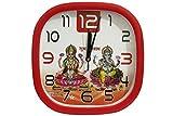 Maa Laxmi Ganesh ji Red & White WallCloc...