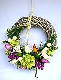 Osterkranz mit Blumen schöne Osterdekoration NEU!