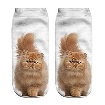 Batnott Herren Weihnachten Socken Beliebte lustige Unisex kurze Socken 3D Katze gedruckt Fu/ßkettchen Casual Geschenk f/ür M/änner weihnachten Weihnachtsgeschenke Christmas Xmas Bequeme Wei/ß