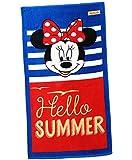 alles-meine.de GmbH Strandtuch / Badetuch -  Disney Minnie Mouse - Hello Summer  - 100 % Baumwol..