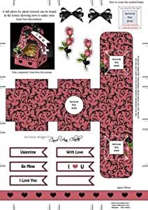 Roses 3d Valentine Treat Box Easifold Cadre par Carol Clarke
