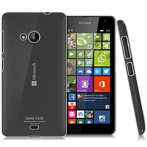 Heartly Imak Crystal Clear Hot Transparent Flip Thin Hard Bumper Best Back Case Cover For Microsoft Nokia Lumia 535 Dual Sim